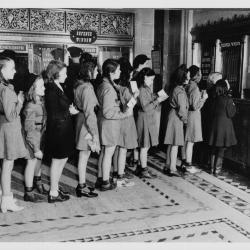 Girl Scouts Buy Defense Stamps