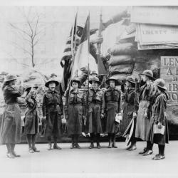Girl Scouts Support Liberty Bonds for WWI