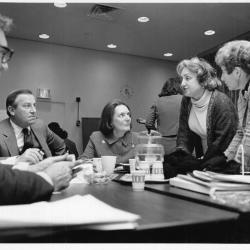 Frances Hesselbein, CEO, GSUSA with Betty Friedan and others