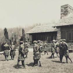 Girl Scout Leaders dance on the green at Great Hall, print 2