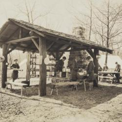 Cooking out-of-doors at Camp Edith Macy, print 1
